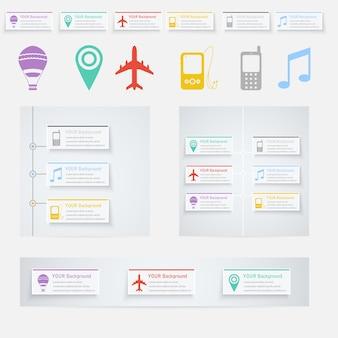 Timeline infografik mit diagrammen und text.