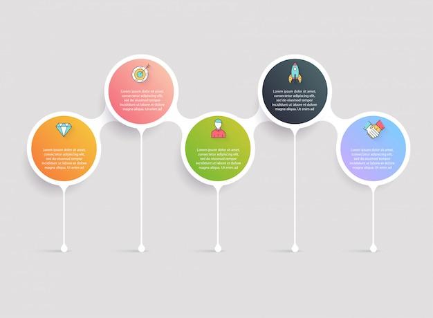 Timeline-infografik-vorlagen. diagramme, diagramme und andere elemente für die darstellung von daten und statistiken.