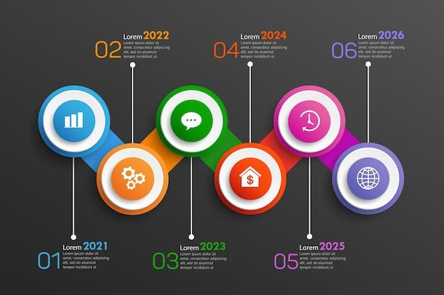 Timeline-infografik-vorlagendesign