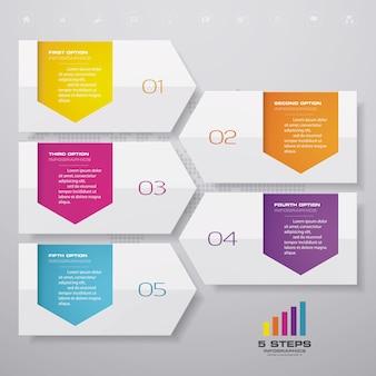 Timeline-infografiken-element