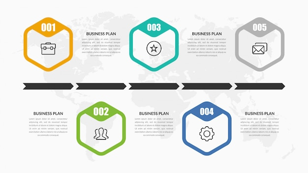 Timeline infographic element design mit symbol