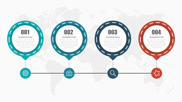 Timeline infographic element design
