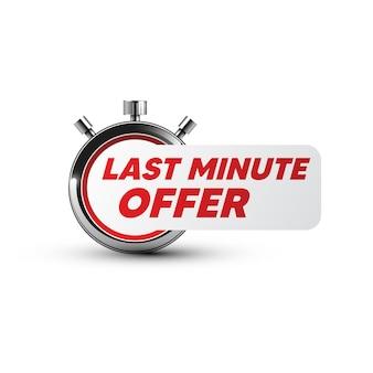 Timer-symbol. last-minute-angebotsetikett Premium Vektoren