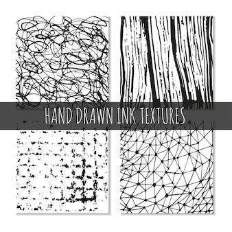 Tinte handgezeichnete texturen können für tapetenhintergrund-t-shirt-designs-kartendrucke verwendet werden