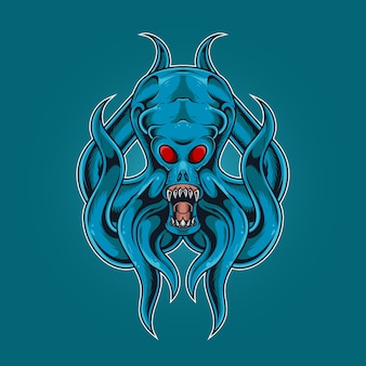 Tintenfisch monster brüllen