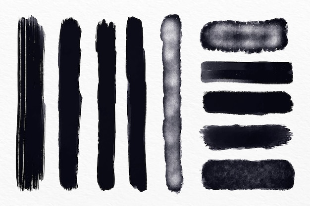 Tintenpinsel strich illustration pack