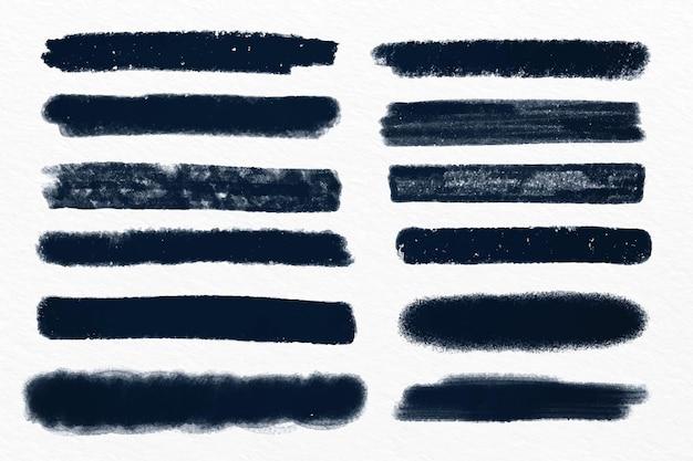 Tintenpinselstrich eingestellt Kostenlosen Vektoren