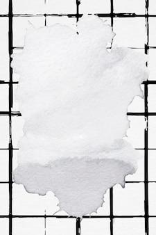 Tintenrahmen mit gemustertem hintergrund mit rasterpinsel