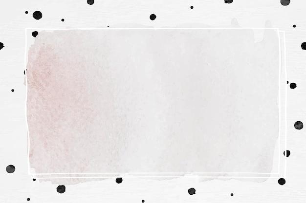 Tintenrahmen mit gemustertem hintergrund mit tupfenpinsel