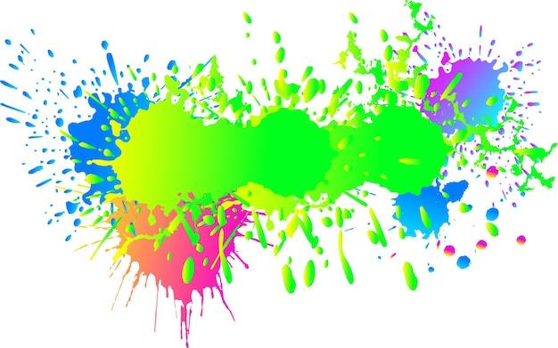 Tintentropfen. runder, zerlumpter tintenklecks. vektor-illustration.