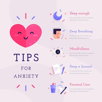 Tipps für angst infografik konzept