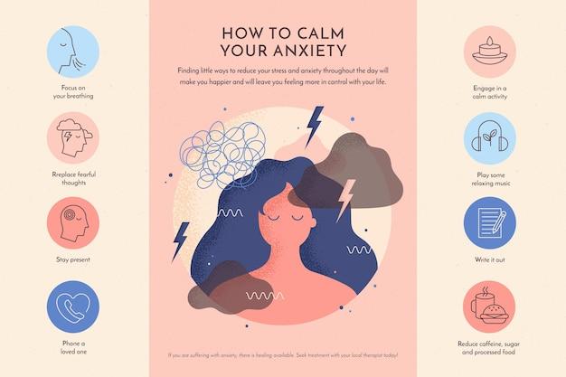 Tipps für angst infografik