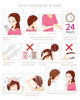Tipps und vorsichtsmaßnahmen vor der verwendung von haarfärbemitteln zum färben des eigenen haares zu hause