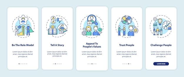 Tipps, wie sie menschen motivieren können, die den bildschirm der mobilen app-seite mit konzepten einbinden