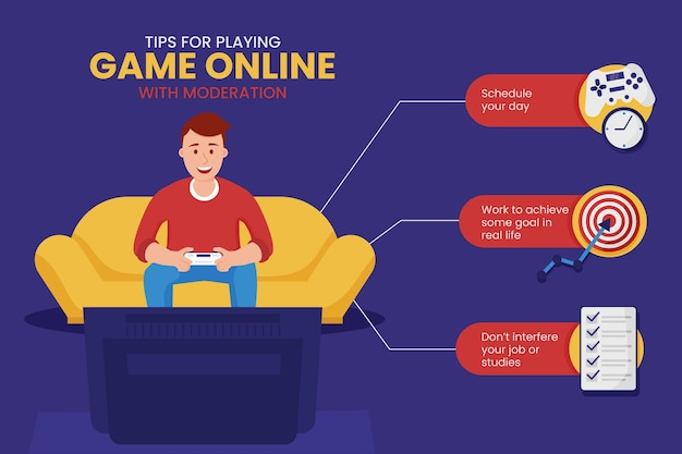 Tipps zum spielen von online-spielen mit moderation