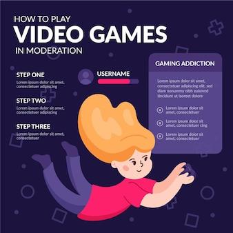 Tipps zum spielen von online-spielen mit moderationsvorlage