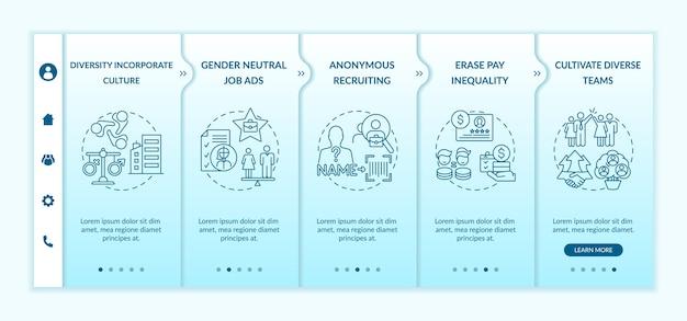 Tipps zur implementierung von gender diversity onboarding-vorlage