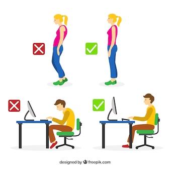 Tipps zur verbesserung ihrer körperhaltung
