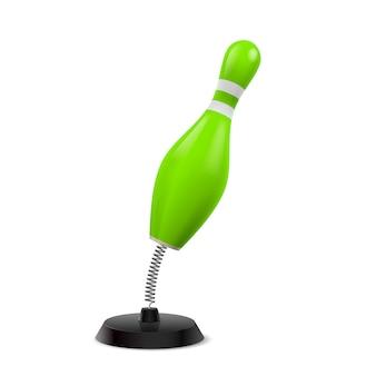 Tisch-souvenir in form einer grünen kegel am frühling