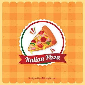 Tischdecke hintergrund mit pizza logo