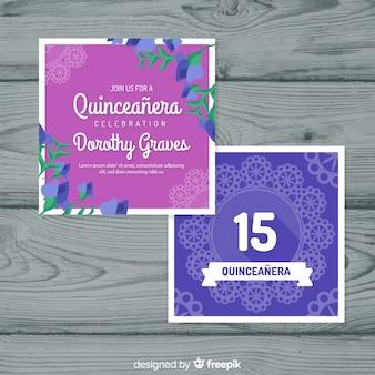 Tischdecke quinceanera partykarte