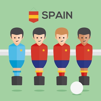 Tischfußball spanien spieler
