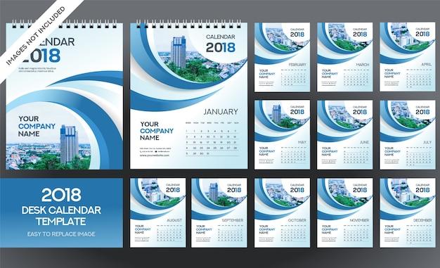 Tischkalender 2018 vorlage - 12 monate enthalten - a5 größe
