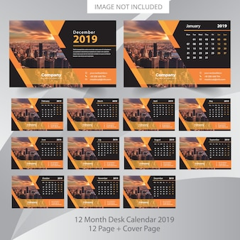 Tischkalender 2019 planer vorlage