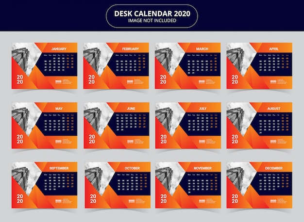 Tischkalender 2020 vorlage