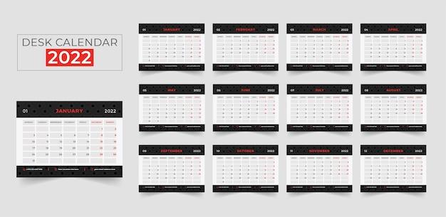 Tischkalender 2022 druckfertige vorlage