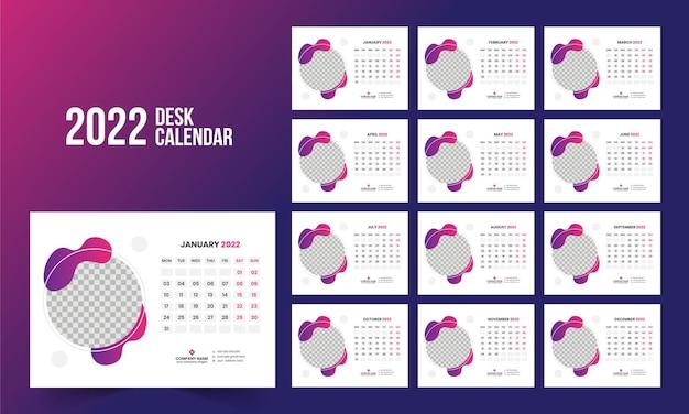 Tischkalender 2022 vorlage
