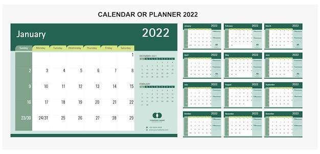 Tischkalender oder planer 2022