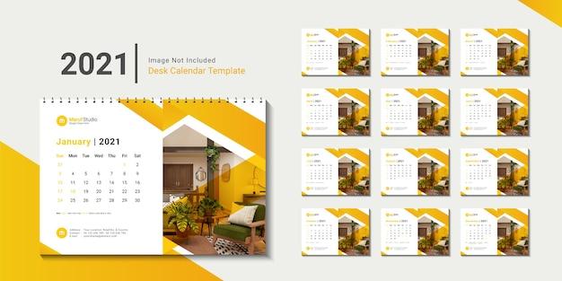 Tischkalendervorlage 2021 mit kreativem design