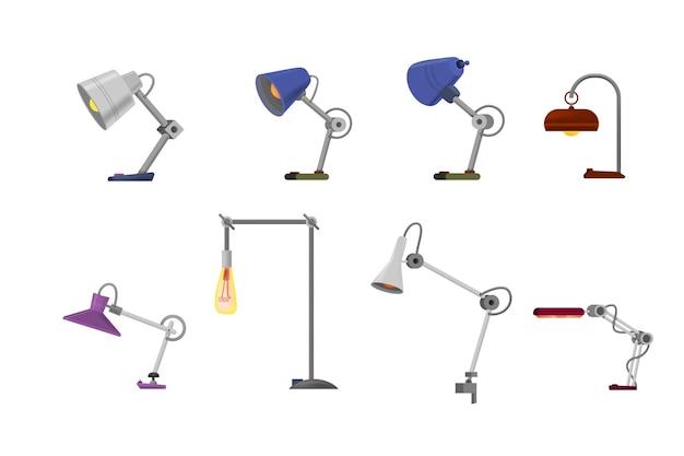 Tischlampe für büro-cartoon-stil.