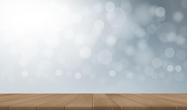 Tischplattenhintergrund mit perspektive des hölzernen musters und der beschaffenheit