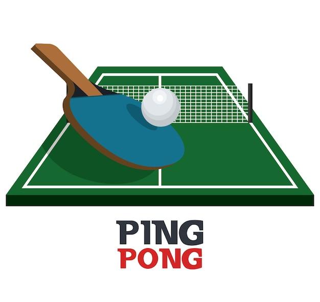 Tischtennis ausrüstung sport vektor-illustration design