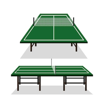 Tischtennis-ikonenvektor-illustrationsdesign