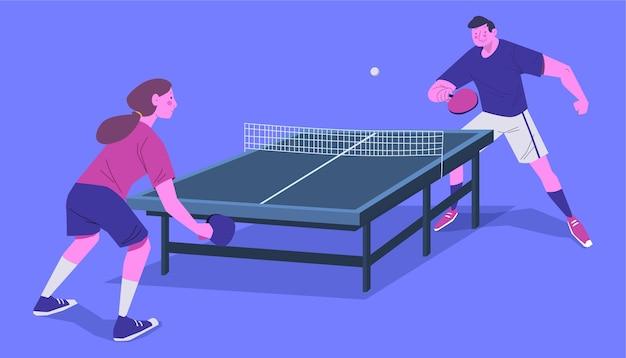 Tischtennis-konzept
