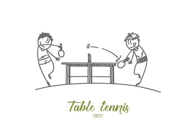 Tischtennis-konzeptillustration