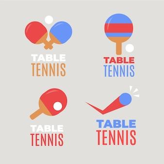 Tischtennis-logo-kollektion