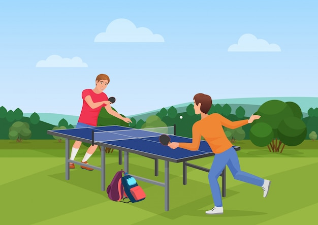 Tischtennis pingpong-spiel