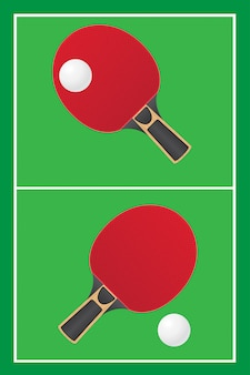 Tischtennis-tischtennis-vektor