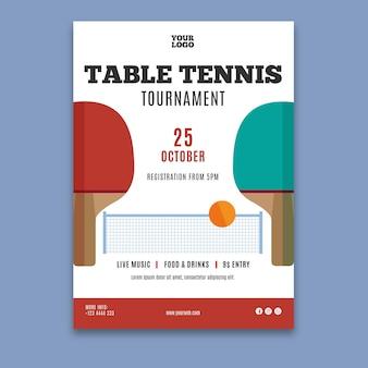 Tischtennis vorlage poster