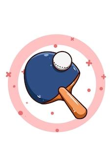 Tischtennis wette und ball