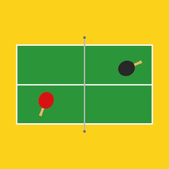 Tischtennisplatte illustration