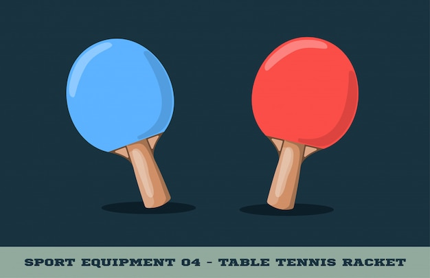 Tischtennisschläger-symbol. sportausrüstung