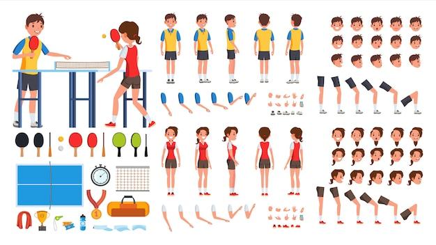 Tischtennisspieler männlich, weiblich