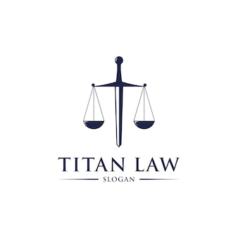 Titan law logo design