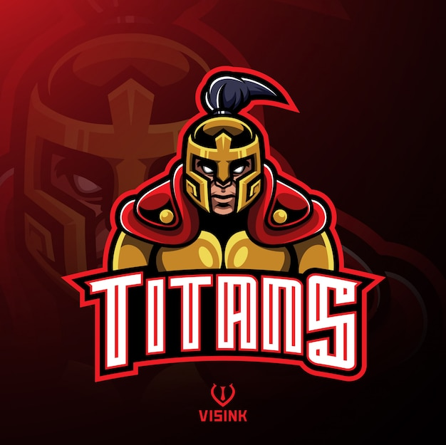 Titans warrior maskottchen logo design