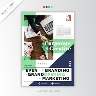 Titelblatt geschäftsbericht corporate template